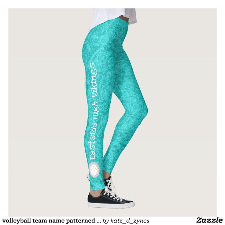 volleyball team name patterned turquoise leggings : Beautiful #Yoga Pants - #Exercise Leggings and #Running Tights - Health and Training Inspiration - Clothing for #Fitspiration and #Fitspo - #Fitness and #Gym #Inspo - #Motivational #Workout Clothes - Style AND comfort can both be achieved in one perfect pair of unique and creative yoga leggings - workout and exercise pants - and running tights - Each pair of leggings is printed before being sewn allowing for fun designs on every square inch…