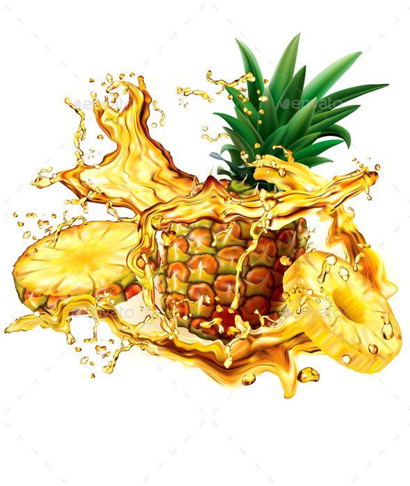 Pineapple Into Of Splashes Juices In 2021 Pineapple Splash Juice