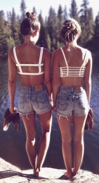 Brandy melville white chiyo bandeau crop caged from temporarilynotselling's closet on poshmark