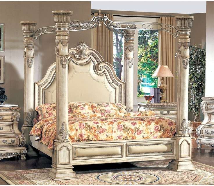 8 best images about beds fit for a princess on pinterest - Four poster king size bedroom sets ...