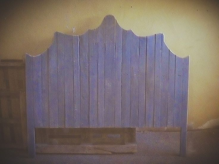 Rustic French flair headboard