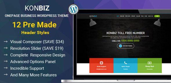 Onepage Business Theme - KonBiz