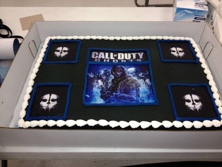 Call of Duty Ghosts CAKE from Walmart | Call of Duty ...