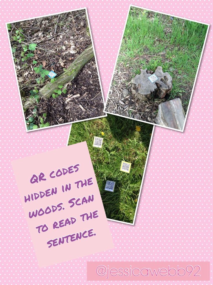 QR codes that lead to words or sentences to read. EYFS Great idea for later in the year