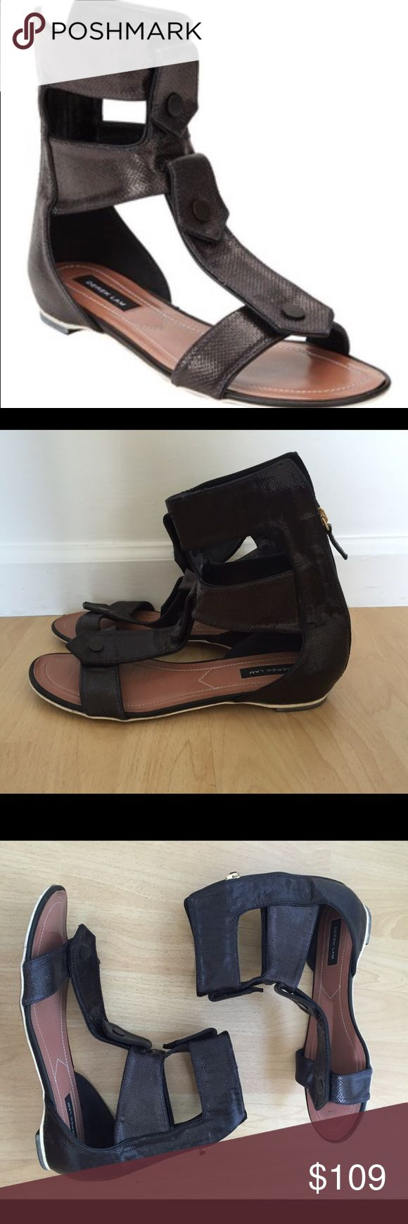 Derek lam flat gladiator sandals Black raffia Derek lam runway collection sandals size 10 in great condition Derek Lam Shoes Sandals
