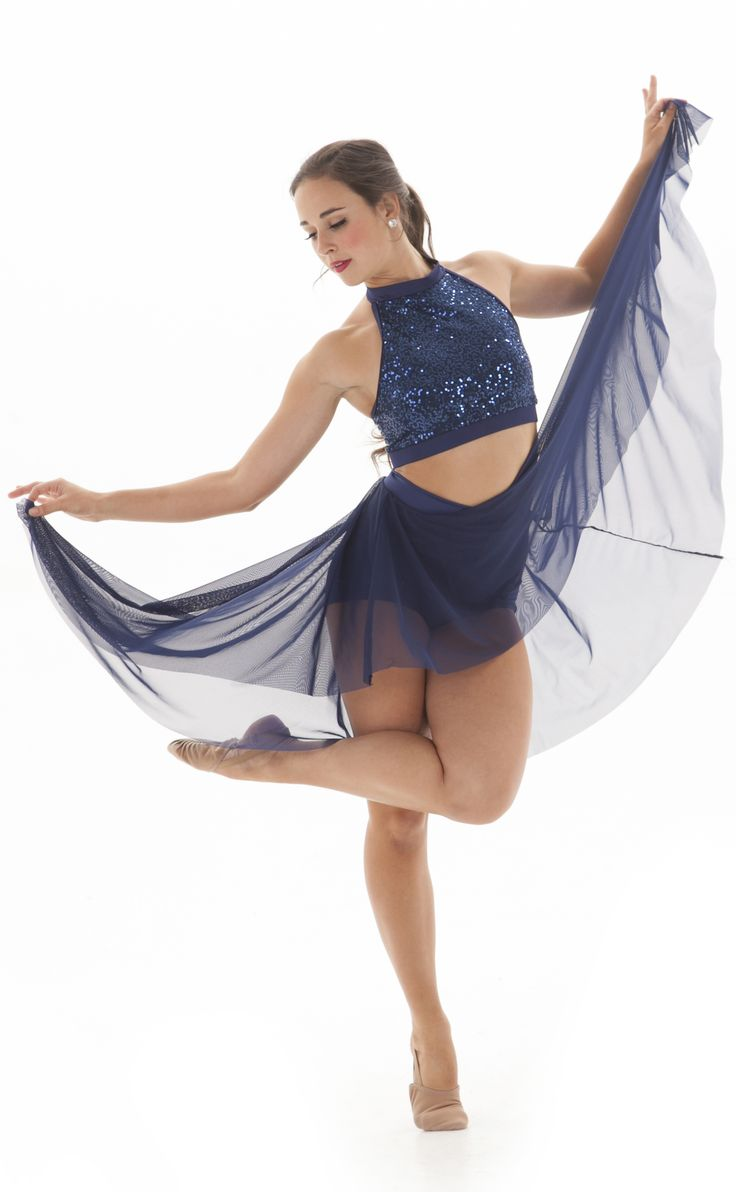 Flowy, high-low skirt- perfect for a jazz, contemporary or lyrical dance costume