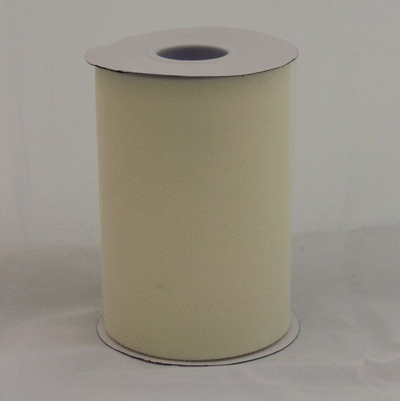 Ivory tulle roll  6 inches  100 yard  Ivory rolls  tulle by BnBLLC, $5.35