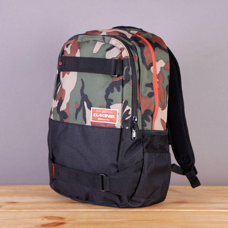 Plecak skate Dakine z mocowaniem na deskorolkę Option 27l Camo / www.brandsplanet.pl / #dakine backpack