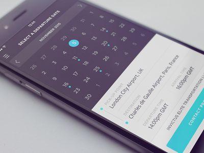 Calendar Select date