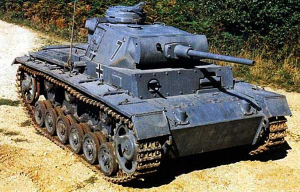 German Panzer III, 50 mm.
