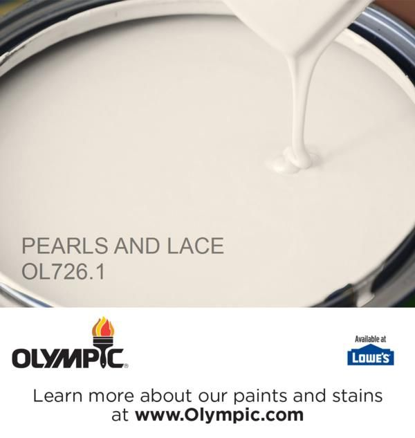 PEARLS AND LACE OL726.1 is a part of the off-whites collection by Olympic® Paint.