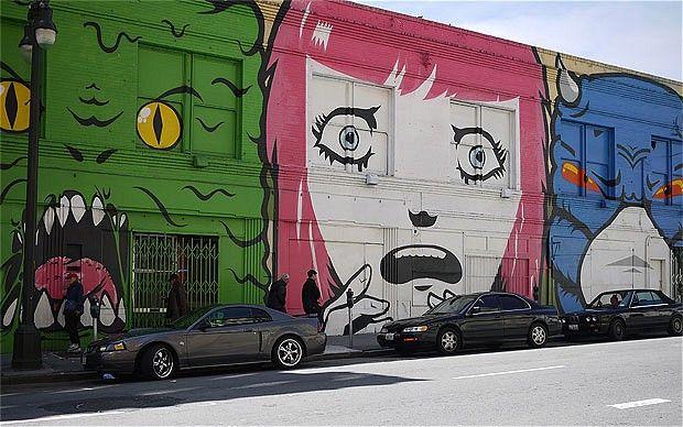 Colourful facades in San Francisco