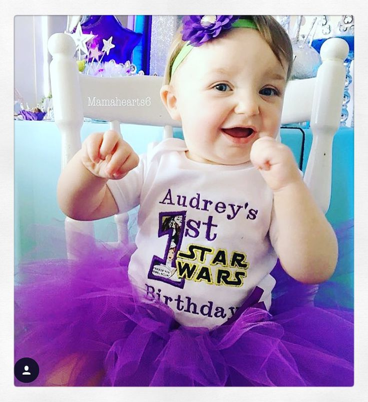 Miss Audrey in her Star Wars these tutu set