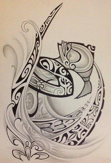 Modèle de Totem Tiki Maori Marquisien pour Tattoo Homme