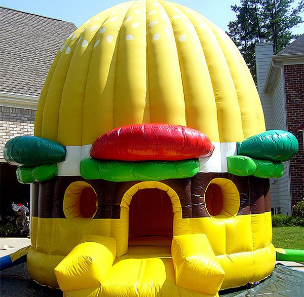 Inflatable Water Slide Durban: Anyone Hungry ? This Burger Shaped Inflatable Just Needs