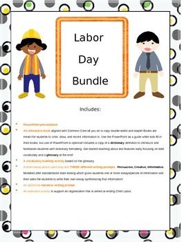 109 best activities for labor day images on pinterest labor day teaching resources and. Black Bedroom Furniture Sets. Home Design Ideas