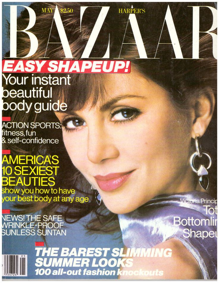 HARPERS BAZAAR MAGAZINE MAY 1986 VICTORIA PRINCIPAL CINDY CRAWFORD JOAN RIVERS | eBay