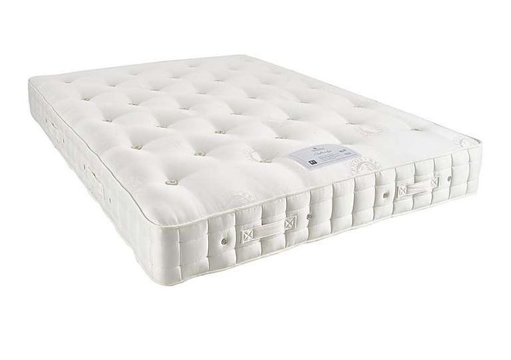 Traditionally hand tufted with hand side stitching 	Covered in finest Belgian damask 	Firmer feel