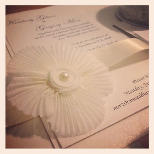 A prototype of an upcoming project #wedding #invitations #handmade http://www.blisspaper.com