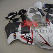 White & Grey fairing kit for #Suzuki GSXR 1300 #Hayabusa