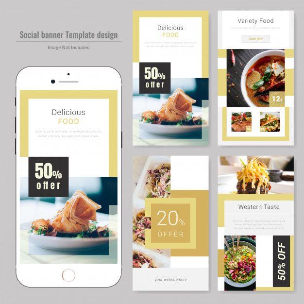 Food Social Media Post Template For Restaurant Food Web Design Social Media Design Social Media Branding