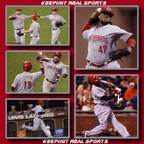 MLB: National League Division Series  Reds 5 Giants 2 FINAL  Cincinnati leads 1-0