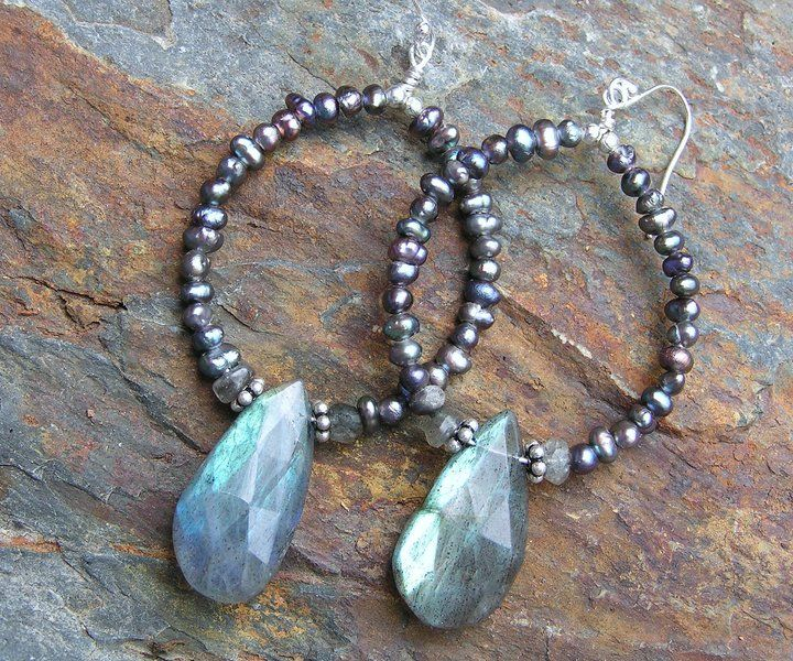 Best 1000 charming jewelry diy images on pinterest beaded jewelry labradorite h o o p e a r r i n g s solutioingenieria Images