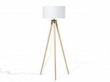 Staande lamp wit, stalamp, vloerlamp, driepootslamp, NITRA