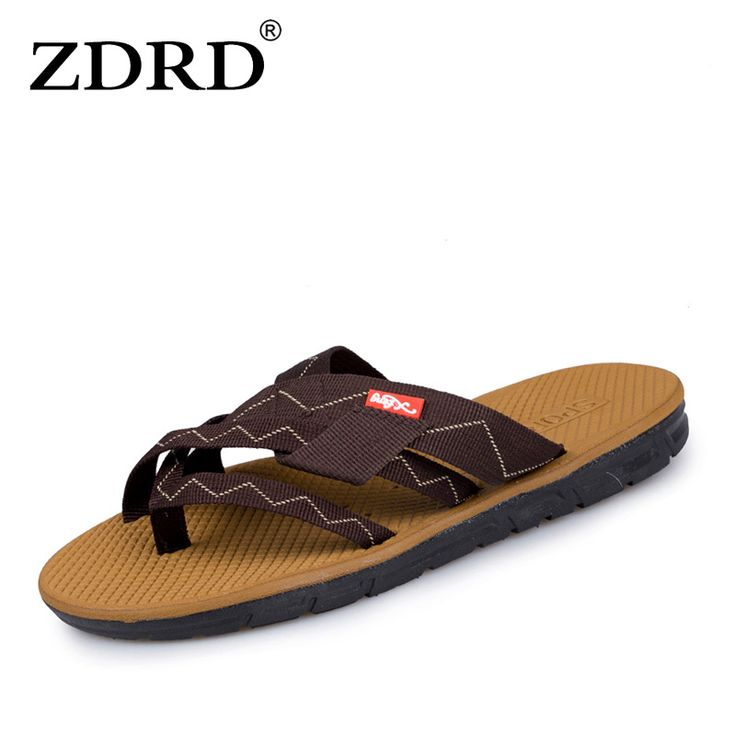 ZDRD fashion Summer Men Designer Flip Flops Male slippers Casual Beach Shoes Platform Slip on Sandals Breathable Shoes Hot Sales