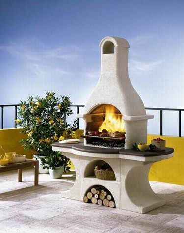 built in grills in fireplACE | Garden fireplaces by Palazzetti | Appliancist