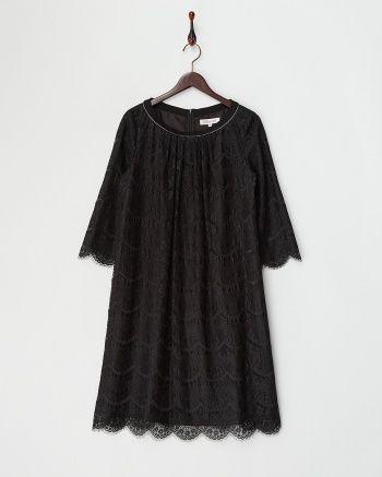 ブラック 衿ビジュー総レースワンピース - COLOR FORMAL COLLECTION|ブランド通販(セール)なら【グラムール セールス】