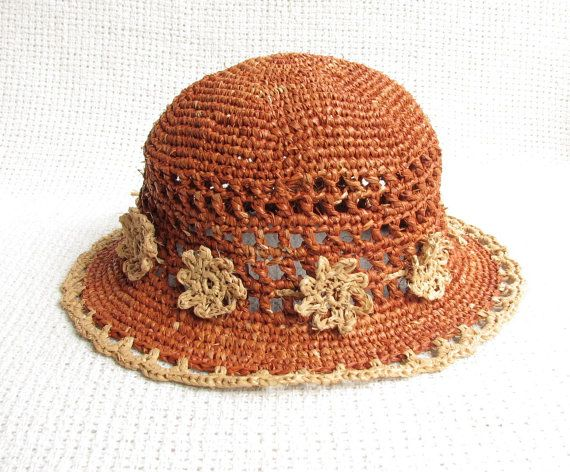 Crochet Sun Hat For Toddler Girl  Genuine Natural by woolsolution, $42.00