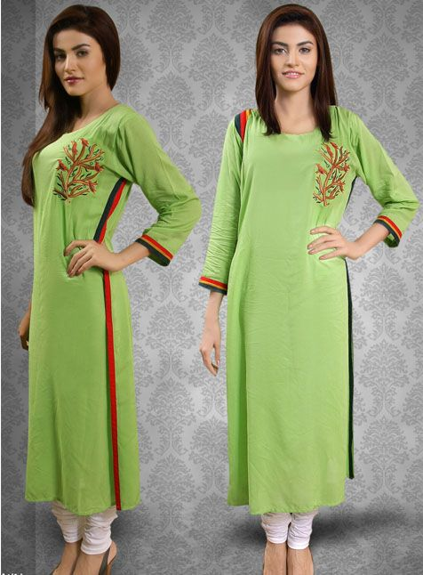 Lime green kurta