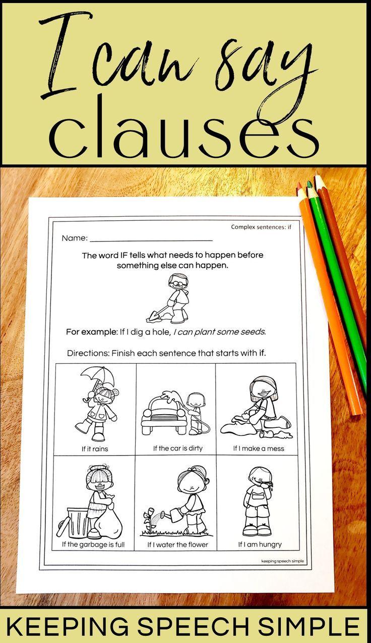 No Prep Complex Sentences Worksheets For Subordinate Clauses Complex Sentences Complex Sentences Worksheets Speech And Language [ 1273 x 736 Pixel ]