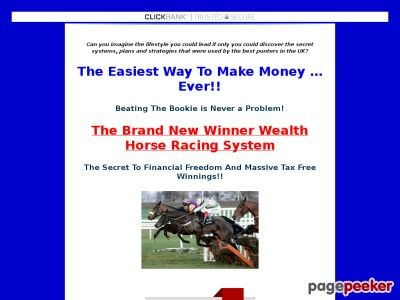 nice The New Winner Wealth  Horse Racing System