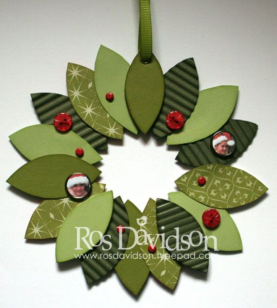 Wreath by ros - Cards and Paper Crafts at Splitcoaststampers