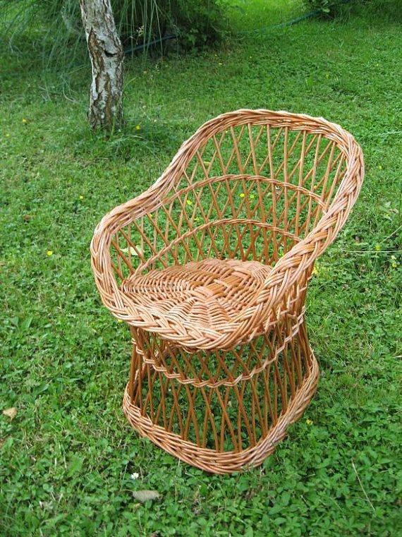 Wicker Kids Chair Willow Child Chair Kids Willow by WillowSouvenir