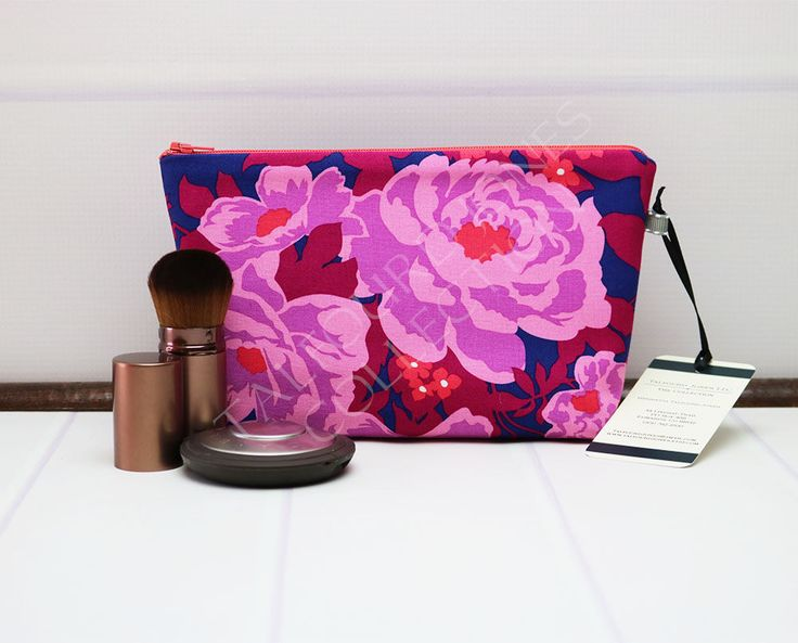 Excited to share the latest addition to my #etsy shop: Floral Makeup Pouch - Small Makeup Bag - Purple Cosmetic Bag - Travel Toilet Bag - Travel Makeup Bag - Fabric Zipper Pouch - Gift for Her http://etsy.me/2DtjpWL #smallmakeupbag #talfourdjones #traveltoiletbag