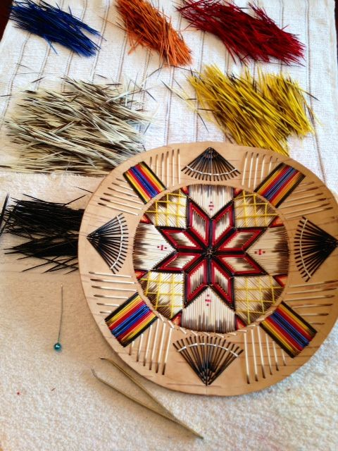 Producing mi'kmaq quill art. My dyed quills. By Ingrid Brooks. Indian Island, NB.