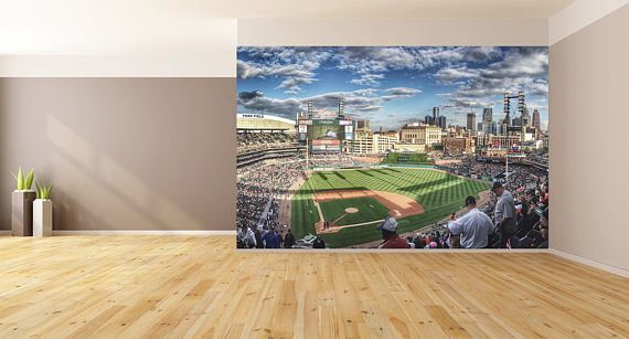 Wall Art Baseball Field Photo Wallpaper HUGE