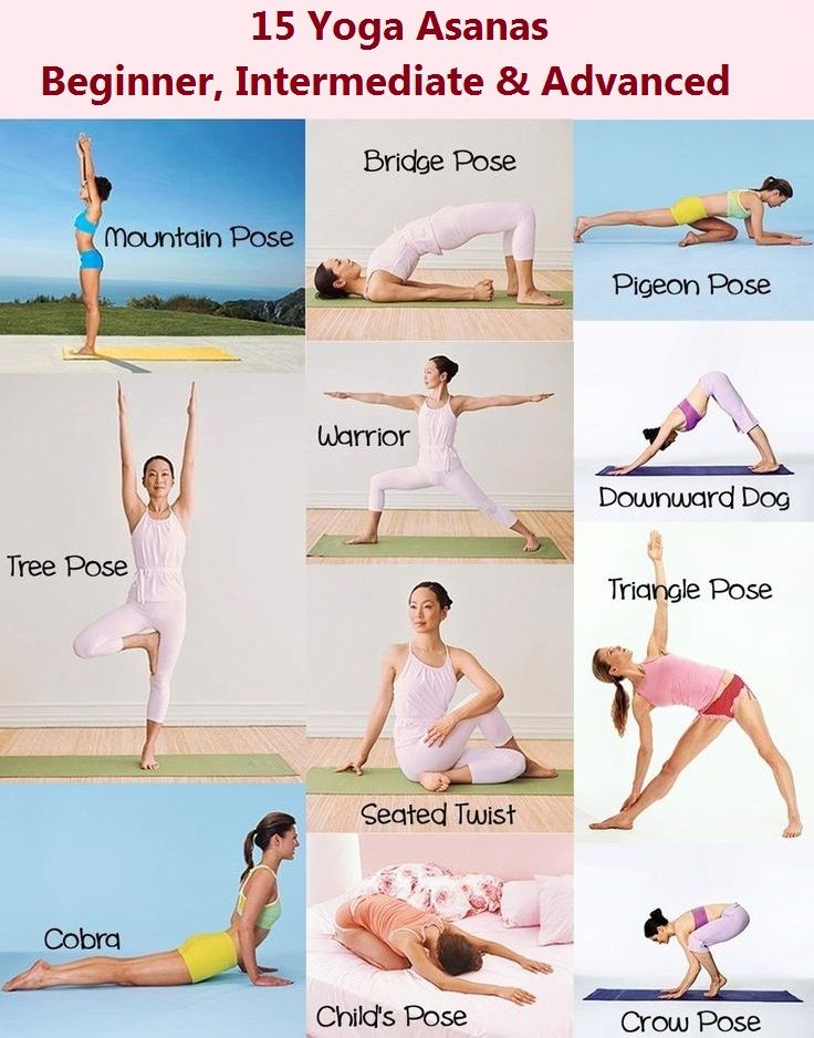 15 yoga asanas beginner intermediate and advanced you should know yoga poses yoga and unique. Black Bedroom Furniture Sets. Home Design Ideas