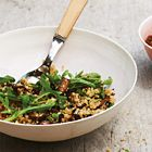 Quinoa met champignons en rucola