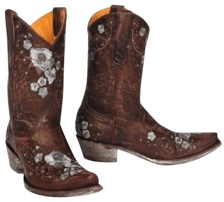 Old Gringo Leather Cowboy Floral Embroidered Cowgirl New Brown Boots | Boots & Booties on Sale