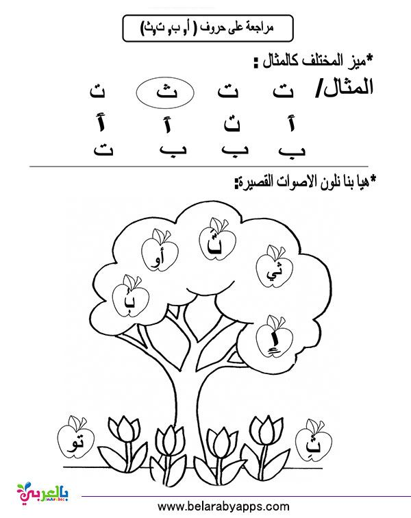 تمارين الحروف الهجائية لرياض الاطفال نموذج اختبار بالعربي نتعلم Arabic Alphabet Arabic Kids Learn Arabic Alphabet
