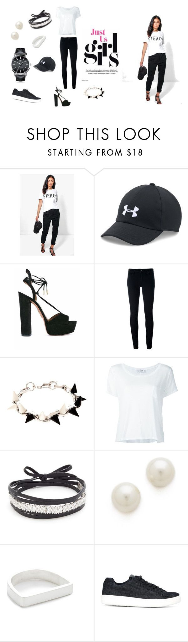 """Just For Girls..**"" by yagna ❤ liked on Polyvore featuring Boohoo, Under Armour, Aquazzura, Levi's, Joomi Lim, Frame, Amber Sceats, Kenneth Jay Lane, Maya Magal and Church's"