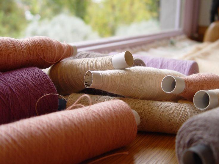 Natural threads ready for weaving #ILLANGO #weaving