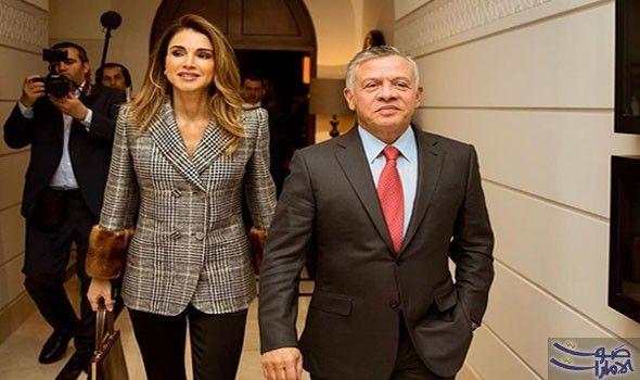 42e7f6cff5178 الملكة رانيا تنشر صورتها مع زوجها على