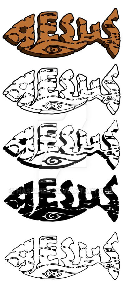 Wooden Plank Jesus Fish created by Michael Scott Hassler Downloaded Vector Here: sellfy.com/p/HGHt/ Download Contains 4 black and white images, each in 2 Vector File Formats: EPS and SVG NOTE...