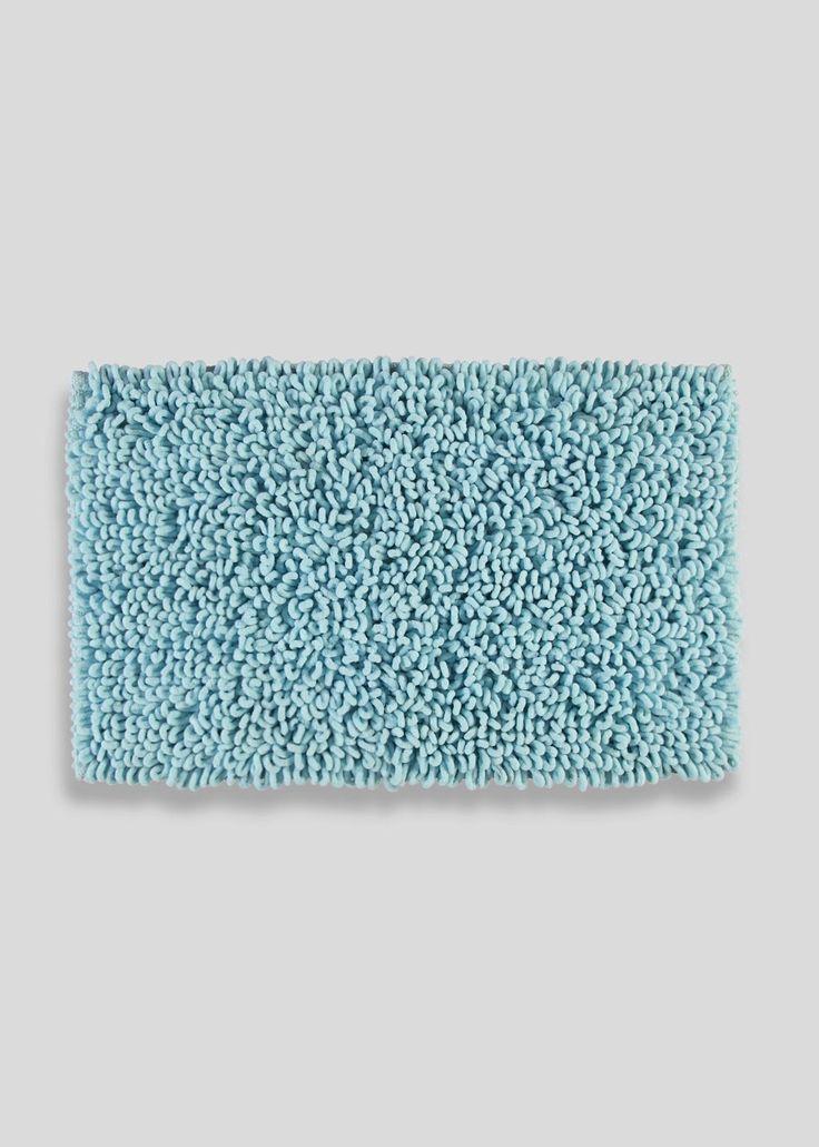 Ultra Absorbent Micro Loop Bath Mat 80cm X 50cm Blue