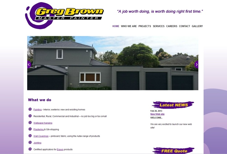 Established in 2004 with Greg operating his business by himself. Greg Brown Master Painter has the ability to take on jobs of all sizes, from multi-million-dollar commercial projects to painting a single front door on a house